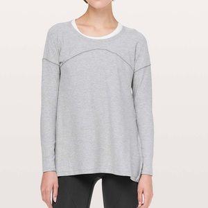 Lululemon Hit Unwind Long Sleeve Grey Size 8